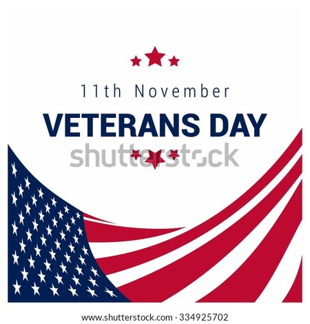 Happy and Free Veterans Day November 11th Creative usa flag 3d style template, United state of America, U.S.A veterans day design. Beautiful USA flag Composition. veterans Day poster design - stock vector