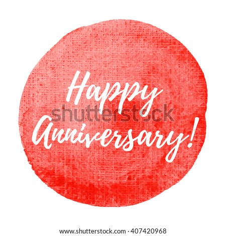 Happy Anniversary Card Celebration Poster Logo Stock Vector ...