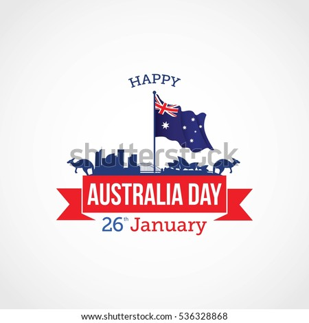 Happy australia day vector illustration suitable stock vector happy australia day vector illustration suitable for greeting card poster and banner m4hsunfo