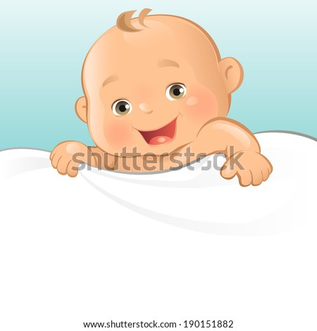 Happy Baby Boy - stock vector