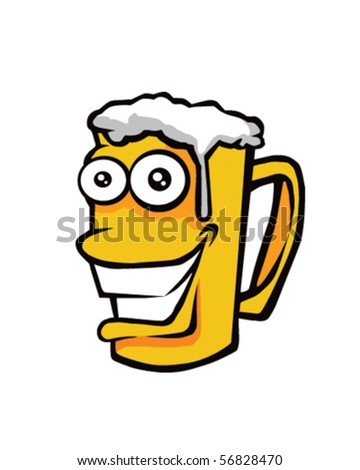 Happy Beer - stock vector
