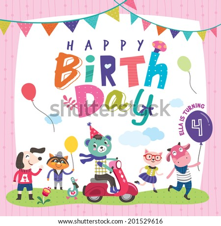 Happy Birthday~ - stock vector