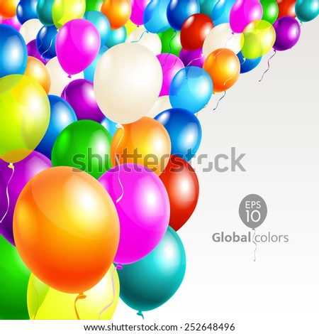 Happy Birthday. Announcement / poster / flyer / greeting card - stock vector