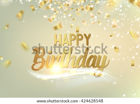 Happy Birthday Background Stock Vector 424628548