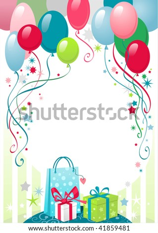 Happy birthday background with space for text - stock vector