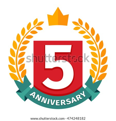 Happy birthday badge vector icon