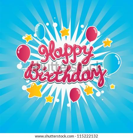 Happy Birthday banner - stock vector