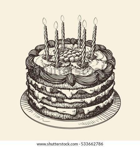 Cake Vintage Stock Images RoyaltyFree Images Vectors