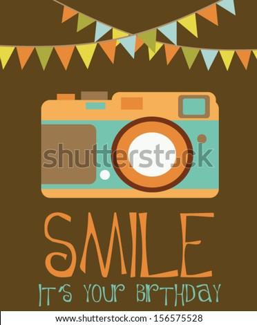 Happy birthday card stock vector 156575528 shutterstock happy birthday card bookmarktalkfo Image collections