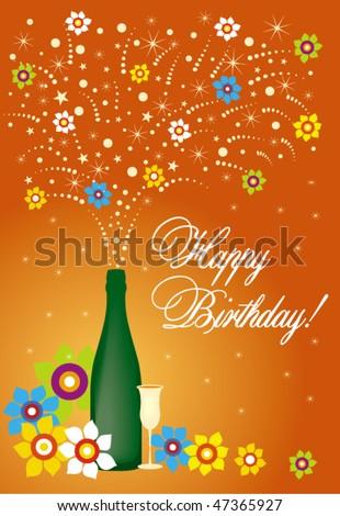 Happy Birthday card #5 - stock vector