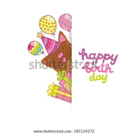 Happy Birthday Card Background Bird Vector Vector 185124269 – Template Happy Birthday Card