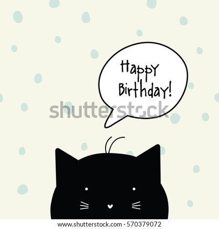Happy birthday card cat character template stock vector 570379072 happy birthday card cat character template graphic design element bookmarktalkfo Gallery