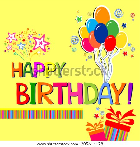 Happy birthday card celebration background birthday stock vector hd happy birthday card celebration background with birthday gift boxes and place for your text negle Choice Image