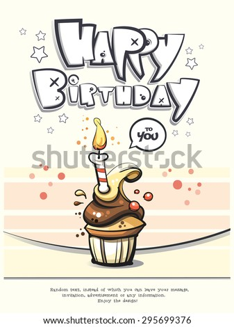 Happy Birthday card design. Vector eps 10