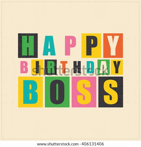 Happy birthday leader vector illustration stock vector 421435372 happy birthday card happy birthday boss vector illustration bookmarktalkfo