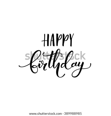 Happy Birthday Card Positive Quote Hand Vector 389988985 – Happy Birthday Cards and Quotes
