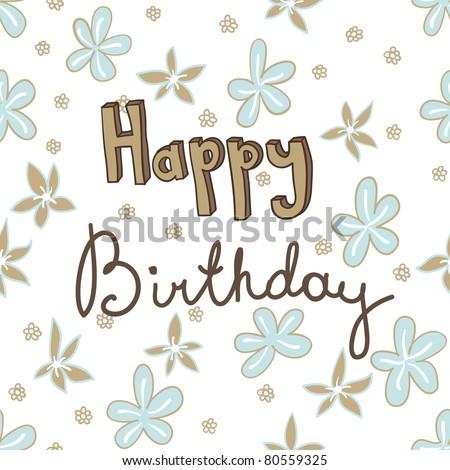 happy birthday card seamless pattern - stock vector