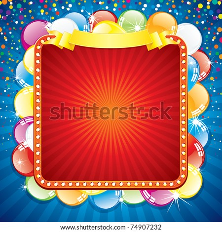 Happy Birthday Card Template, Blank Colorful Background For your Text - stock vector