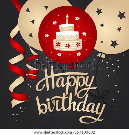 Birthday Card Template Stock Images, Royalty-Free Images & Vectors
