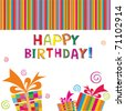 happy birthday Card. Vector Illustration - stock vector