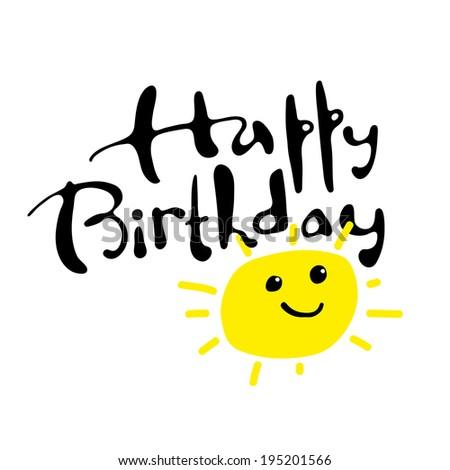 Happy birthday. Greeting card - stock vector