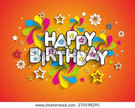 Happy Birthday Design Vector ~ Happy birthday greeting card background vector stock photo photo