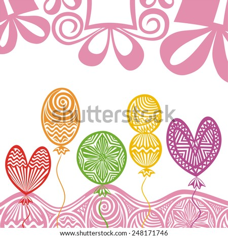 Happy birthday greeting card vector illustration