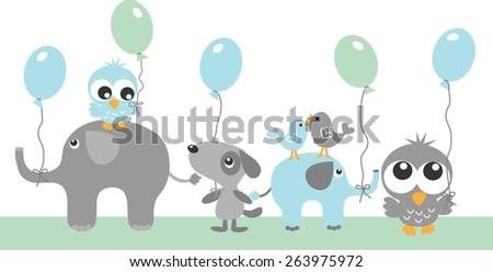 happy birthday header or banner - stock vector