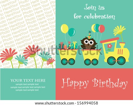 Happy birthday invitation card design vector stock vector happy birthday invitation card design vector illustration stopboris Gallery