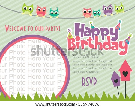 Birthday Invitation Stock Images RoyaltyFree Images Vectors - Happy birthday invitation card design
