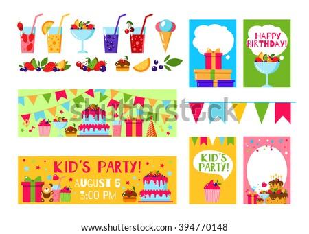 Happy Birthday Invitation Card Flat Vector Vector 394770148 – Happy Birthday Invite