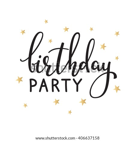 Happy birthday invitation sign quote typography stock vector happy birthday invitation sign quote typography calligraphy design for postcard poster graphic design simple stopboris Image collections