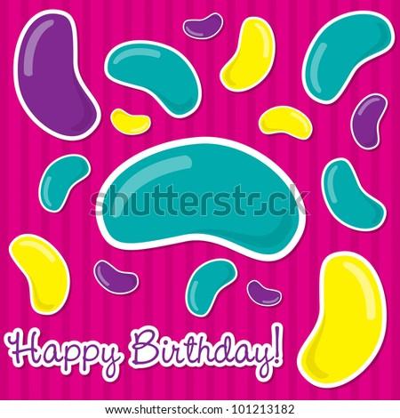 Happy Birthday Jelly Bean Sticker Card Vector 101213185 – Bean Birthday Card