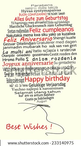 happy birthday in different languages pdf