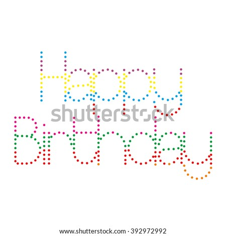 Happy birthday paper sign over confetti. Vector illustration