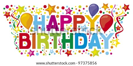 happy birthday party design - stock vector