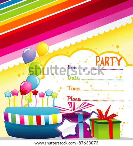 happy birthday party invitation