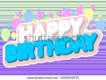 happy birthday poster design template vector stock vector 1069826972