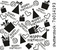 happy birthday. Seamless Wallpaper. isolated on White background. Vector illustration - stock vector