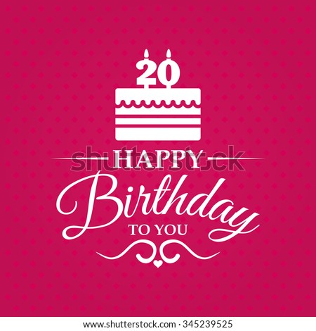 Happy birthday you greeting card cake stock vector 345239525 happy birthday to you greeting card with cake and candles for 20 years bookmarktalkfo Choice Image