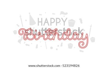 happy birthday typographic vector design greeting stock vector, Birthday card