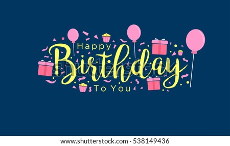 Birthday Font Stock Images, Royalty-Free Images & Vectors ...