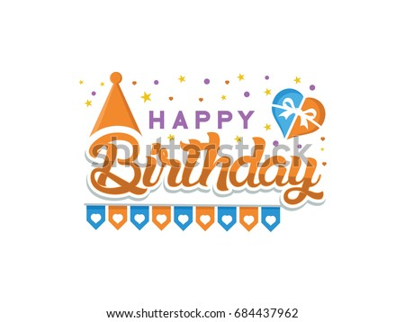Happy Birthday Typographic Vector Design Greeting Stock Vector Hd