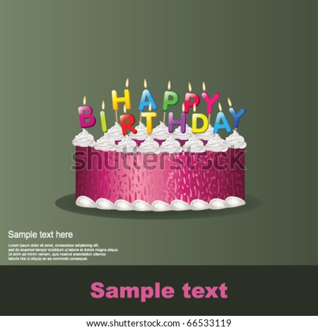 Happy birthday. Vector - stock vector