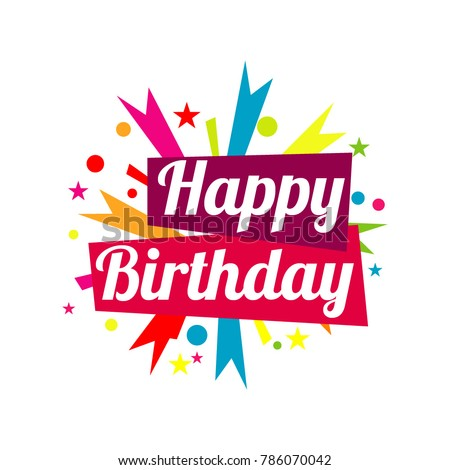 happy birthday vector template design stock vector 2018 786070042 rh shutterstock com happy birthday vector watercolour happy birthday vector png