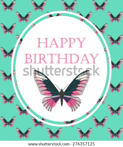 Happy Birthday Vintage Card Stock Vector 276357125 Shutterstock