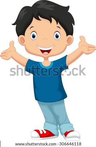 happy boy cartoon stock photo photo vector illustration rh shutterstock com happy old person cartoon happy old person cartoon