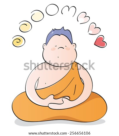 Happy Buddha meditating