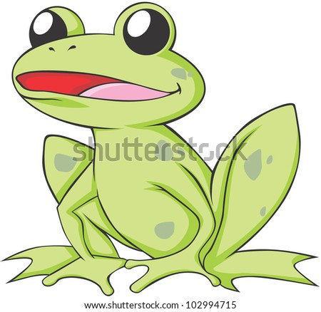 happy bullfrog cartoon stock vector 102994715 shutterstock rh shutterstock com jeremiah bullfrog cartoon cartoon bullfrog pictures