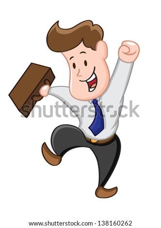 happy businessman - stock vector